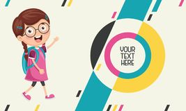 Vector Illustration Of Kids Abstract Background. Eps 10 Royalty Free Illustration