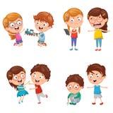 Vector Illustration Of Kids Behaviours. Eos 10 Stock Images