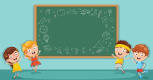 Vector Illustration Of Kids Classroom. Eps 10 Royalty Free Stock Images