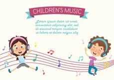 Vector Illustration Of A Kids Dancing. Eps 10 stock illustration