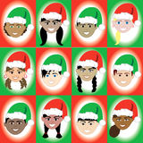 Christmas Hat Kid Faces Stock Photos