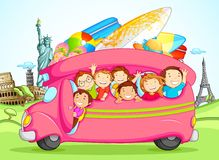 Kids enjoying School Trip Stock Images