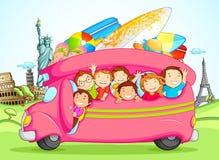 Kids enjoying School Trip Stock Images
