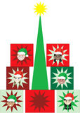 Christmas Kid Present Tree Royalty Free Stock Photos