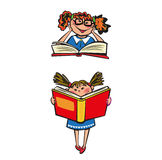 Vector Illustration Kids Learning with Book Stock Images
