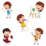 Vector Illustration Of Kids Making Art Performance. Eps 10 Royalty Free Stock Photo