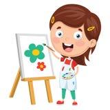 Vector Illustration Of Kids Making Art Performance. Eps 10 Royalty Free Stock Photos