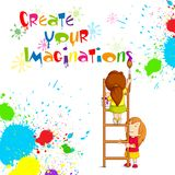 Kids Painting Competition Poster. Vector illustration of kids painting competition poster Royalty Free Stock Photography