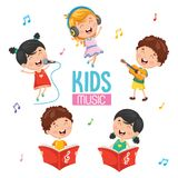 Vector Illustration Of Kids Playing Music. Eps 10 Royalty Free Stock Photography
