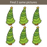 Christmas tree same game Royalty Free Stock Images