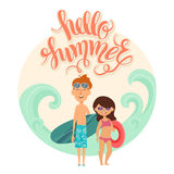 Vector illustration of kids Royalty Free Stock Image