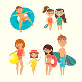Vector illustration of kids Stock Photos