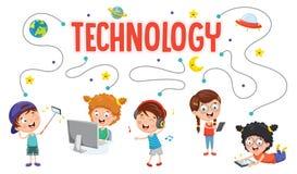 Vector Illustration Of Kids Technology. Eps 10 Royalty Free Stock Image
