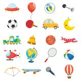 Vector Illustration Of Kids Toys. Eps 10 stock illustration
