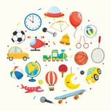 Vector Illustration Of Kids Toys. Eps 10 Stock Photos
