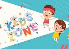 Vector Illustration Of Kids Zone Background Design. Eps 10 Stock Photos