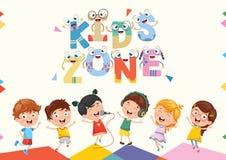 Vector Illustration Of Kids Zone Background Design. Eps 10 royalty free illustration