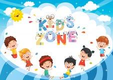 Vector Illustration Of Kids Zone Background Design. Eps 10 stock illustration