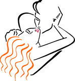 Vector Illustration Kissing Men And Women