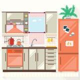 Vector illustration of kitchen . Stock Photo