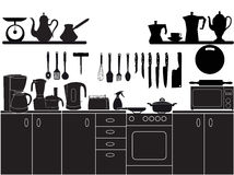Vector illustration of kitchen tools. For cooking Royalty Free Stock Images