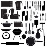 Vector illustration of kitchen tools. For cooking Royalty Free Stock Photo