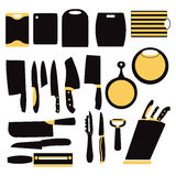 Vector illustration of kitchen tools for cooking Stock Photography