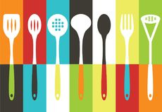 Kitchen utensils set. Vector illustration of kitchen utensils set Royalty Free Stock Photo