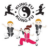 Vector illustration of  kung fu Stock Photography