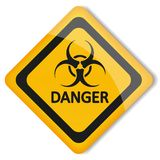 Vector illustration label biohazard Royalty Free Stock Photos