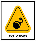 Vector illustration label bomb Royalty Free Stock Photography