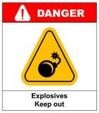 Vector illustration label bomb Stock Photos