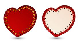 Vector illustration of laced hearts Royalty Free Stock Images