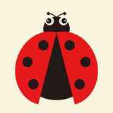 Vector illustration of a ladybug Royalty Free Stock Photo