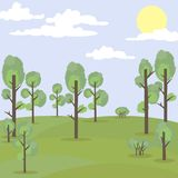 Vector illustration landscape park and outdoor. Illustration landscape beautiful park Stock Image