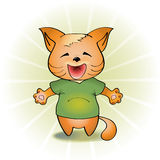 Vector illustration of laughing cat Royalty Free Stock Photos