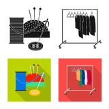 Vector illustration of laundry and clean icon. Set of laundry and clothes stock vector illustration. Isolated object of laundry and clean symbol. Collection of stock illustration