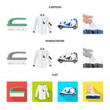 Vector design of laundry and clean symbol. Collection of laundry and clothes stock symbol for web. Vector illustration of laundry and clean sign. Set of laundry stock illustration