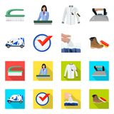 Vector design of laundry and clean symbol. Collection of laundry and clothes vector icon for stock. Vector illustration of laundry and clean sign. Set of vector illustration