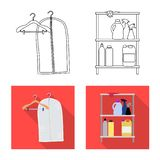 Vector design of laundry and clean icon. Collection of laundry and clothes vector icon for stock. Vector illustration of laundry and clean symbol. Set of stock illustration
