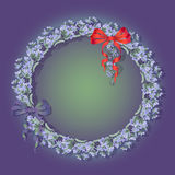 Vector illustration with  lavender  and bows. Royalty Free Stock Photography
