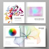 The vector illustration of the layout of two covers templates for square design bifold brochure, magazine, flyer. The vector illustration of the editable layout Royalty Free Stock Photos