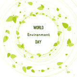 Vector illustration of a leaf for World Environment Day Stock Image