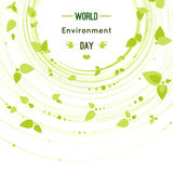 Vector illustration of a leaf for World Environment Day Stock Photo