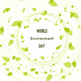 Vector illustration of a leaf for World Environment Day Royalty Free Stock Images