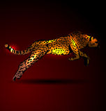 Vector illustration of a leaping jaguar Royalty Free Stock Photos