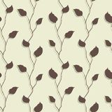 Vector illustration of leaves. (Seamless Pattern Royalty Free Stock Photography