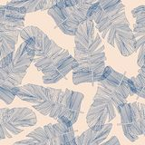Vector illustration of  leaves seamless pattern. vector illustration