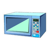 The vector illustration  of the еlectric microwave oven Royalty Free Stock Photography