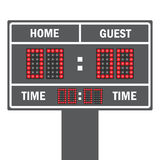 Vector illustration of a LED football scoreboard with fully  data Royalty Free Stock Photography